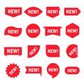 New sticker set Royalty Free Stock Photo
