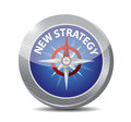 New strategy compass illustration design Royalty Free Stock Photos