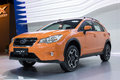 New subaru xv i at the th thailand international motor expo on december in bangkok thailand Stock Photo