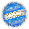 New successful purchase icon Stock Image