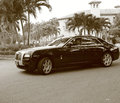 New super luxury rolls royce phantom in sepia at the boca raton golf resort and spa in south florida Stock Image
