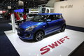 New suzuki swift at the auto mobile international leipzig germany june ami trade fair on june st in leipzig saxony germany Royalty Free Stock Photos