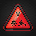 New symbol launched to warn public about radiation dangers iso standard ionizing warning supplementary un sign Stock Photography