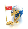 The new symbol of the Turkish Lira Royalty Free Stock Photo