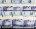 New Taiwan Dollars in stacks Royalty Free Stock Photo