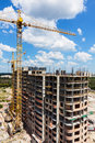 New tall modern building construction Stock Images