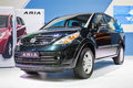 New tata aria at the th thailand international motor expo on december in bangkok thailand Royalty Free Stock Photo