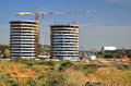 New tel aviv construction site of a residential area in northern israel Stock Photo