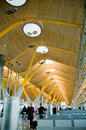 New terminal T4. Barajas airport, Madrid. Royalty Free Stock Image