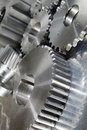 New titanium and steel gears Royalty Free Stock Photo