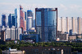 New towers of moscow city russia june in russia on june the is commercial district in central Royalty Free Stock Photos