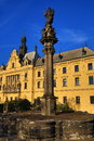 The new town hall czech novoměstská radnice old buildings new town prague czech republic a picture of charles square Stock Image