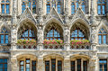 The New Town Hall is a town hall at the northern part of Marienplatz in Munich, Bavaria Royalty Free Stock Photo