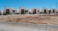 New townhouses in mexico baja while significantly smaller than their us counterparts the trend is clear and represents a big Royalty Free Stock Photos