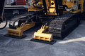 A new tracked construction machinery Stock Photography