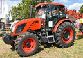 New tractor at the fair Royalty Free Stock Photo