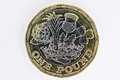 New UK pound coin Royalty Free Stock Photo