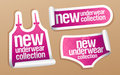 New underwear collection for women stickers. Royalty Free Stock Photography