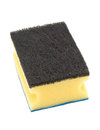 New unused clean yellow cleaning sponge Royalty Free Stock Photo