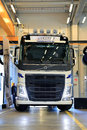 The new volvo fh truck tractor lieto finland april trucks presents their series as part of their range at trucks and renault Stock Photos