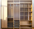 New wardrobe in the course of assemblage Stock Photos