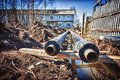 New water pipes Royalty Free Stock Photo