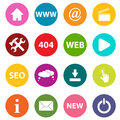 New web icons paper set on a white background Stock Image