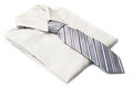 New white shirt with grey tie a Royalty Free Stock Images
