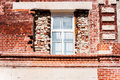 New window in old building Royalty Free Stock Photo