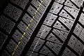 New winter car tire pattern close up of high performance modern Stock Photo