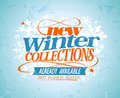 New winter collections design eps Royalty Free Stock Images
