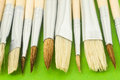 New Wooden Different Paintbrush Texture Royalty Free Stock Images