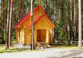 New wooden house made of logs Royalty Free Stock Photo