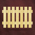 New wooden planks fence on red background can use like vintage natural design element Stock Photos