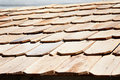 New wooden roof tile Stock Images