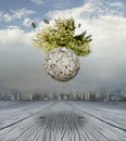 New world a conceptual beautiful surrealistic background representing a Royalty Free Stock Photography