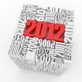 New year 2012. Cube consisting of the numbers Stock Image