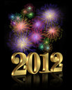 New Year 2012 fireworks Royalty Free Stock Photo
