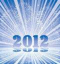 New year 2012 numbers with fireworks Royalty Free Stock Photos