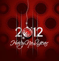 New year 2012 poster Stock Photography