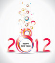 New year 2012 in white background. Stock Images