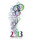 New year 2013 Stock Photos