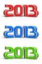New year 2013 3d render Stock Photos