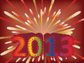 New year 2013 background Stock Image