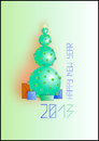 New year 2013 background. Christmas illustration Stock Photography