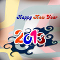 New Year 2013 card design Stock Images