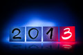 New year 2013, concept, light graffiti Stock Photo