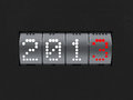 New year 2013 counter Royalty Free Stock Photography