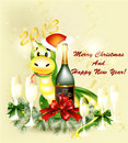 New year 2013 greeting card Royalty Free Stock Image