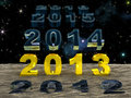 New Year 2013 over the sand of time Royalty Free Stock Photos
